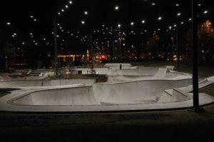 Söderlyckan Skatepark i Lund. Ljusdesign Bertil Göransson